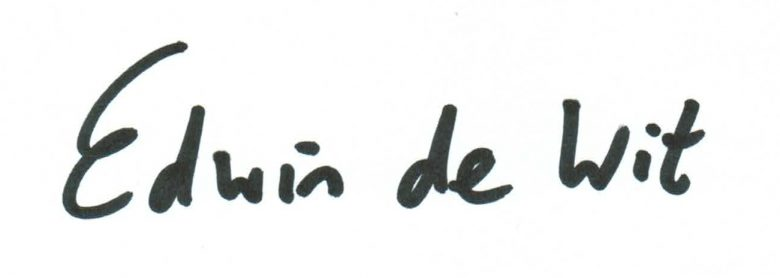 geschreven naam EdW 2